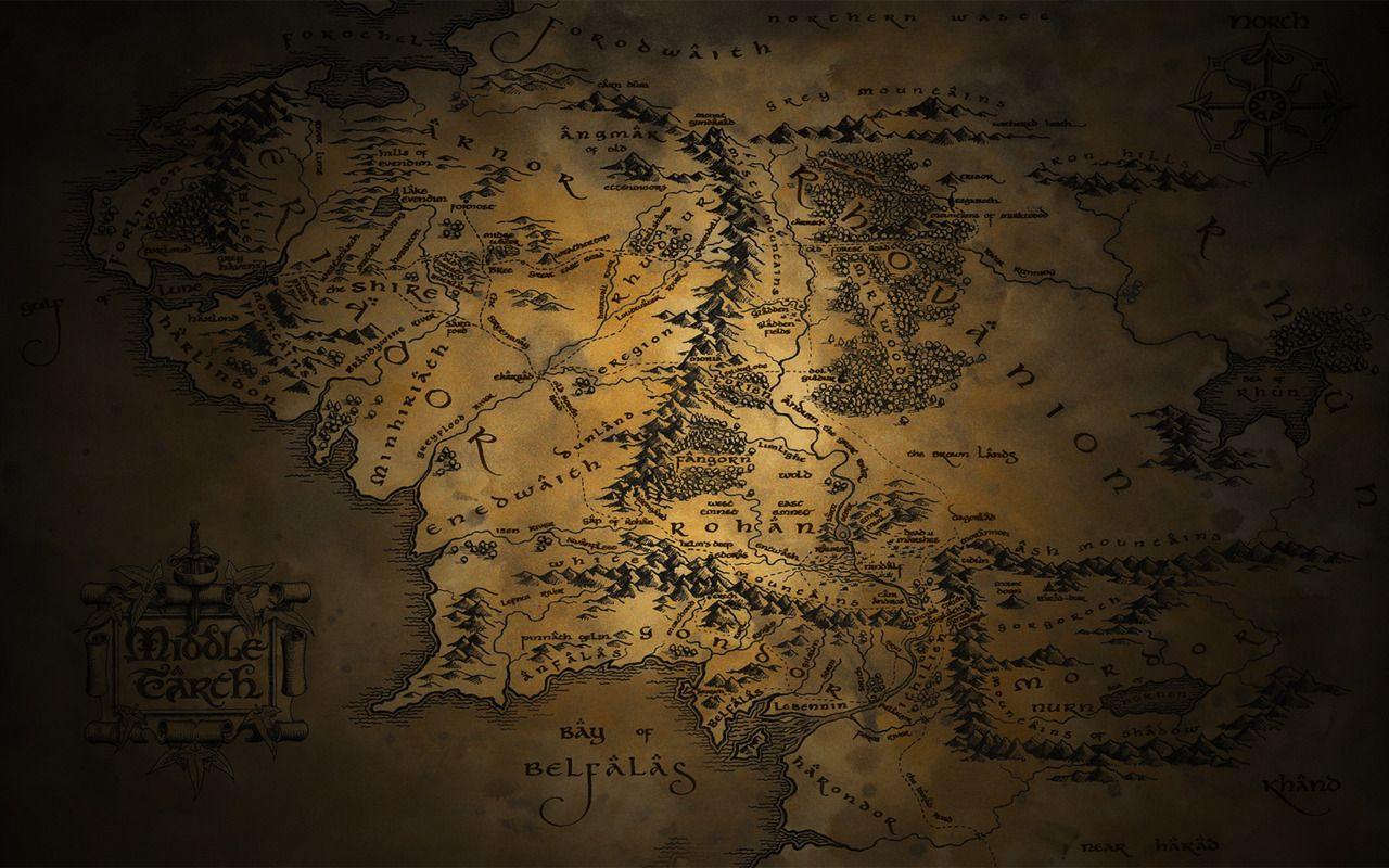 Mittelerde Karte Herr Der Ringe.Herr Der Ringe Karte Von Mittelerde Lotr Screen