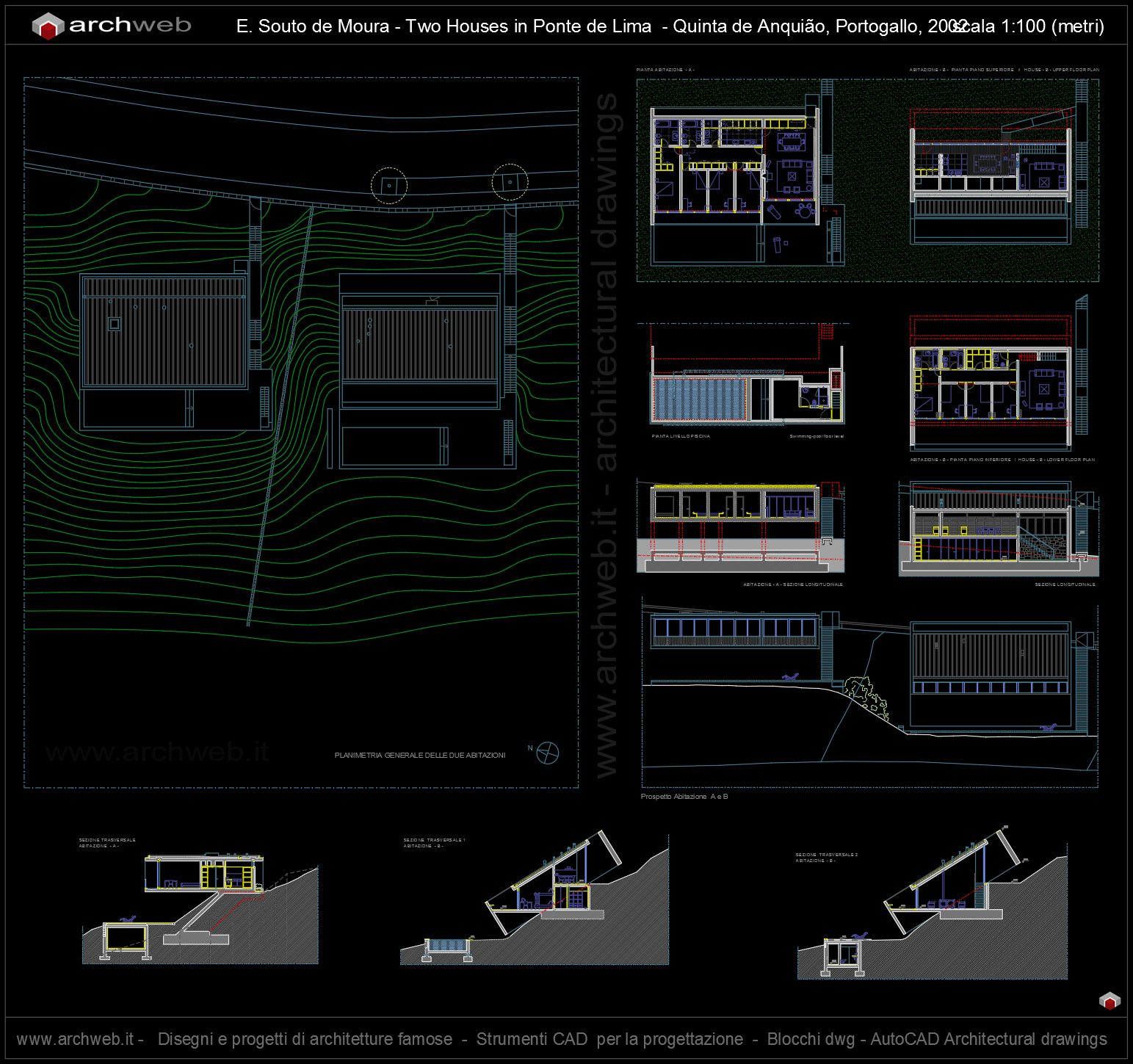 Amazing houses in ponte de lima autocad dwg with progetti dwg - Uscire da finestra layout autocad ...