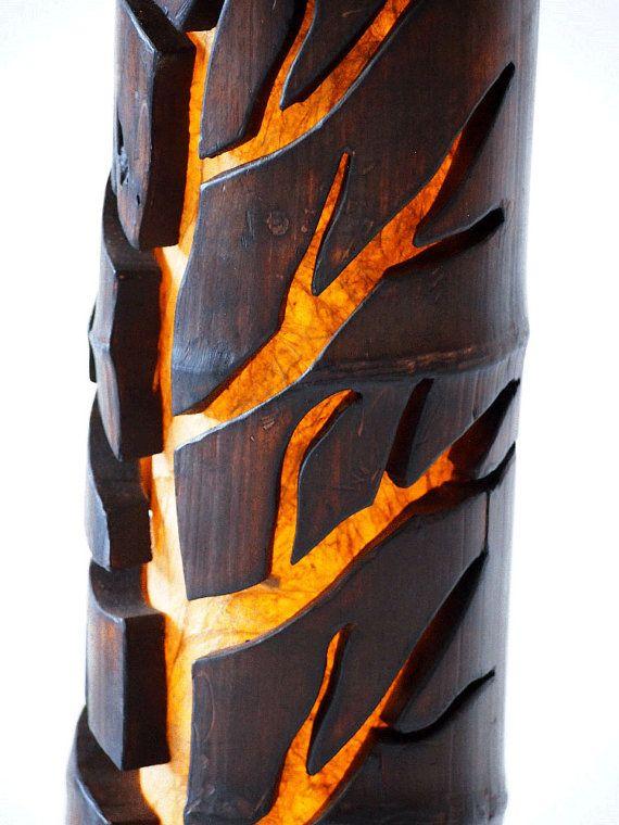Wooden Lamp Desk Lamp Tree Lamp Dad Gift Bamboo Lamp Gift Etsy Bamboo Lamp Wooden Lamp Tree Lamp