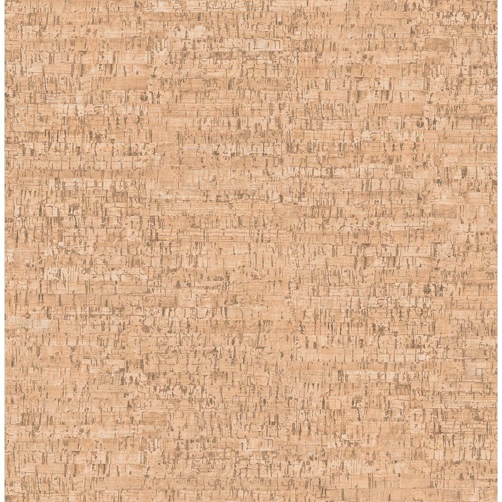 Orange Faux Cork Wallpaper Sample 2900