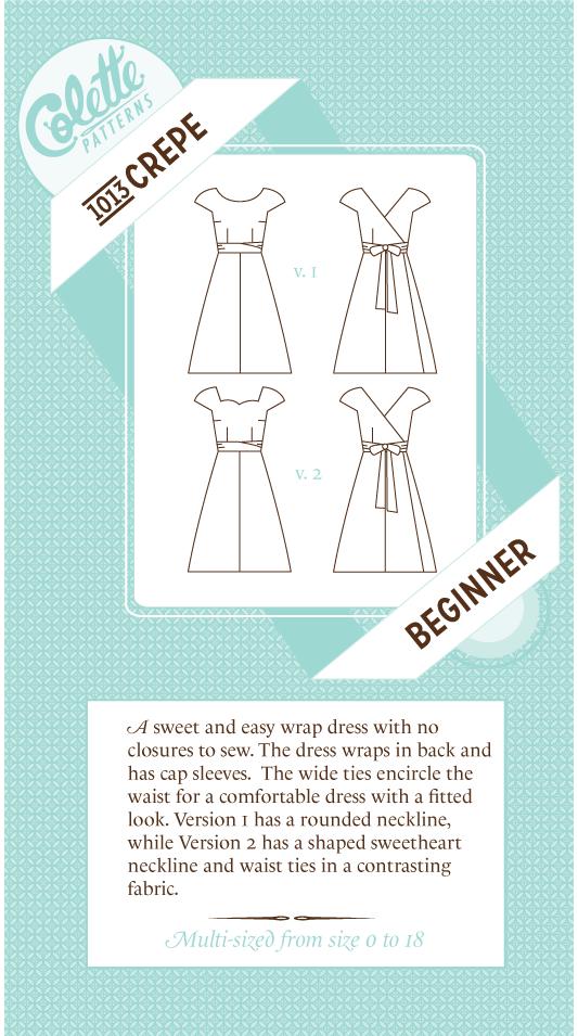 Colette pattern - Crepe | D.I.Y clothes | Pinterest | Costura, Molde ...