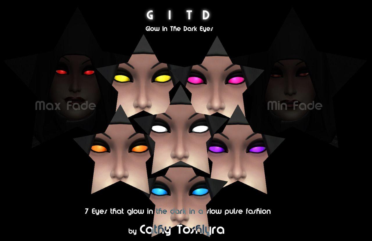 GITD Eyes(Glow in the dark)   Facepaint   by