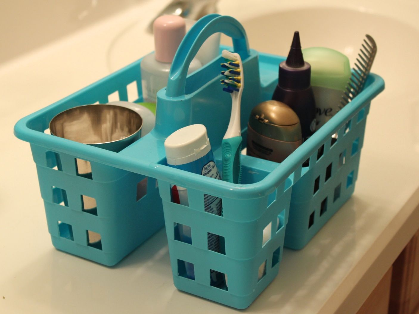 Dollar Store Bathroom Organizing Under Sink Organization