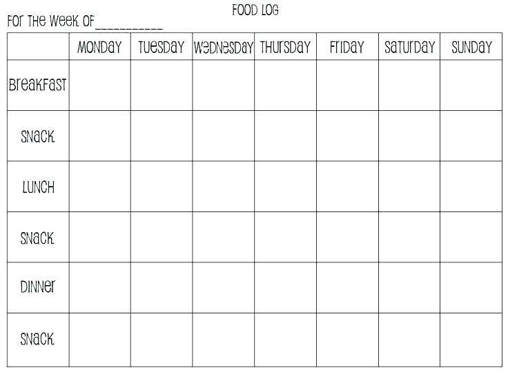 Calorie Spreadsheet Free Printable Food Journal Log Diary And Templates Template For Kids C Definition Ne Food Diary Template Food Journal Printable Food Log