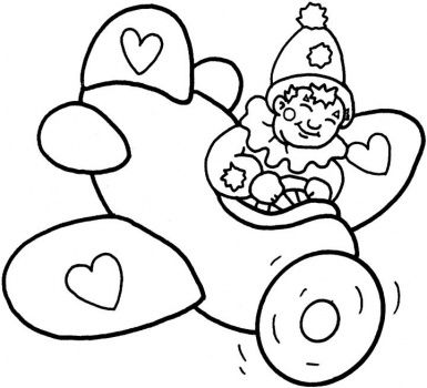 Little Clown In The Plane Coloring Pages Free Printable Coloring Pages Coloring Books