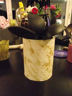 Boite de lait pour b b recycl en pot ustensiles de cuisine les re 39 cr ations d 39 ath na mes - Pot pour ustensile de cuisine ...