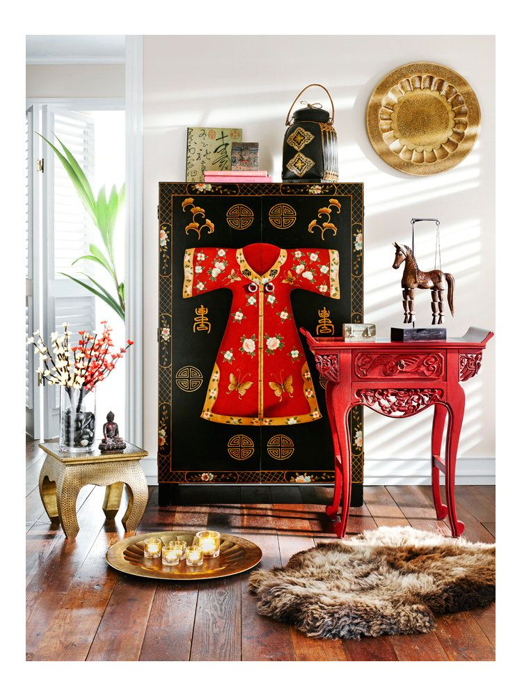 meuble de rangement armoire style asiatique armoire console chez un int rieur. Black Bedroom Furniture Sets. Home Design Ideas