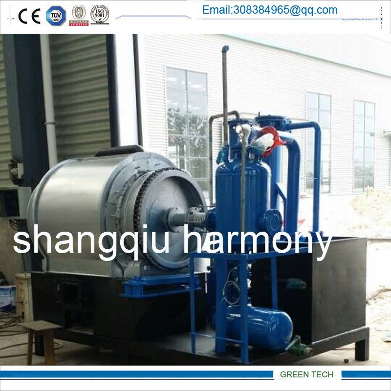 Mini mobile type pyrolysis plant 2-3 ton for waste tyre and