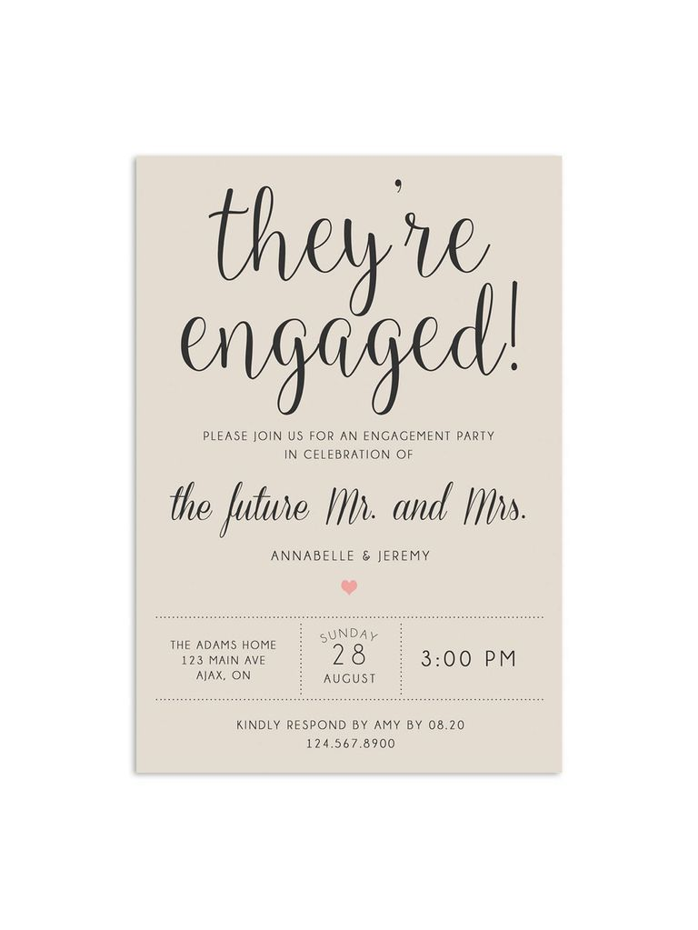 Engagement Party Invitations for Any Theme or Style #engagementparty