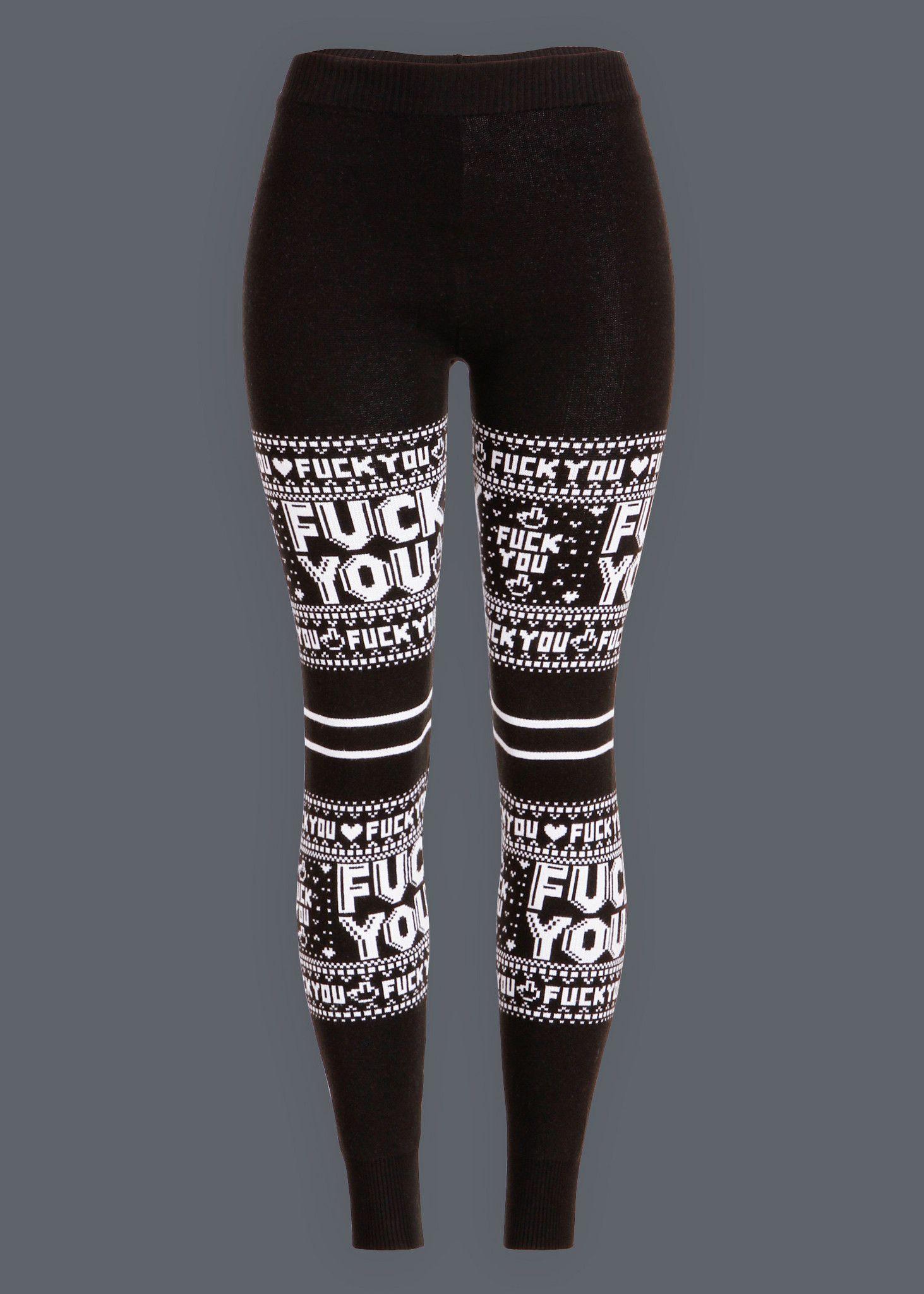 fuck leggings