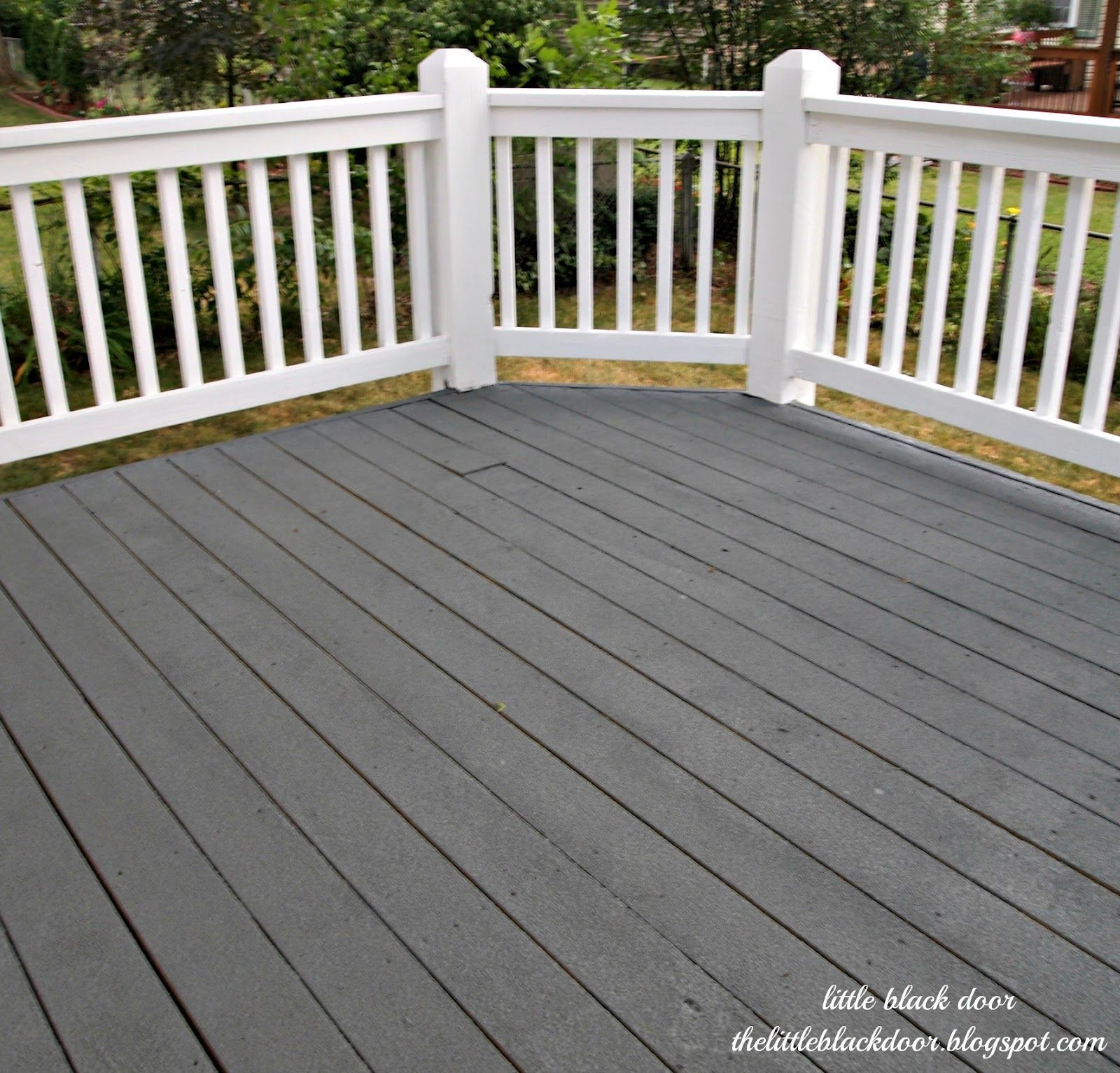 I Wear My Sunglasses At Night Deck Reveal Deck Paint Deck Colors Staining Deck