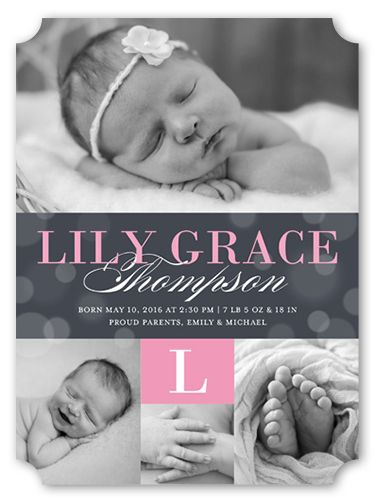 Bokeh Arrival 6x8 Birth Announcements Baby What To