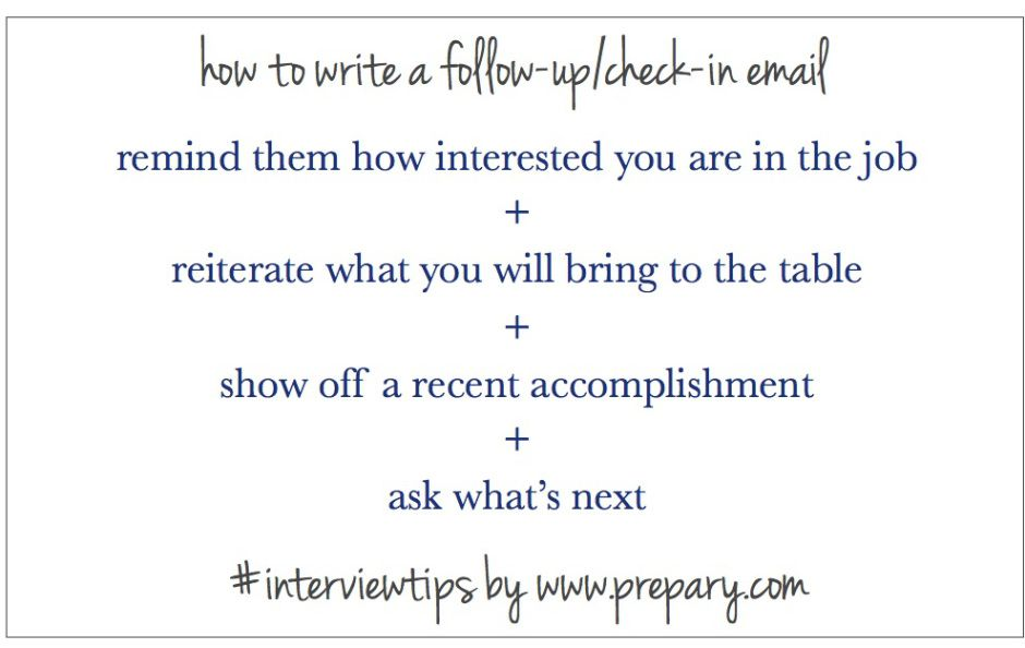 how to write a follow up email after an interview career and