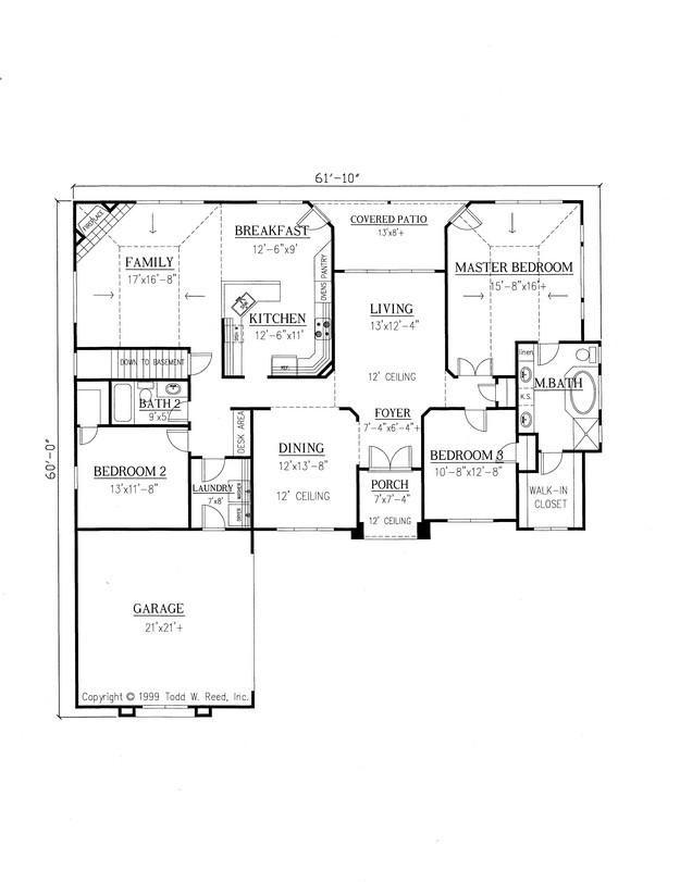 House Plan 286 00032 Ranch Plan 2 144 Square Feet 3 Bedrooms 2 Bathrooms In 2021 Master Suite Floor Plan Floor Plan Design Building Plans House