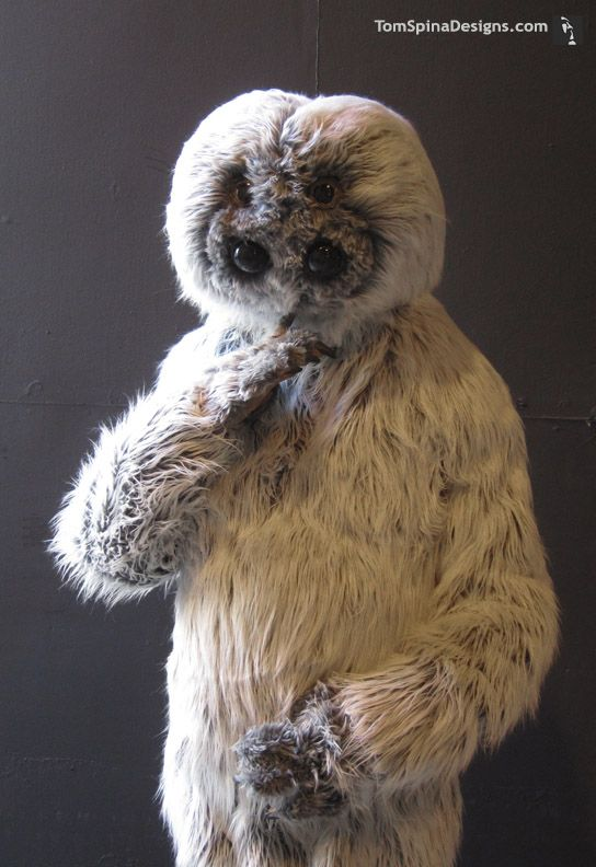 Muftak, another costume, fabricated from foam. The fur is a near perfect match for the original film used costume