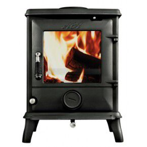 The Aga Ludlow multifuel stove has a nominal heat output of 6.5kw, with a maximum of 9kw, making it ideal for medium to large rooms. With its classic, understated design this stove suits both traditional and contemporary settings. Complete with the Aga Active Airwash System – for clean glass and reduced emissions, black 'cool touch' handle and multifuel riddling grate and ashpan for the successful burning of both wood and solid fuel.<br />Also available as a woodburning smoke exempt model…