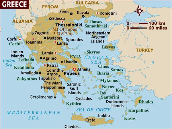 Maps Of Greece Greece Tourism Santorini Map Greece Islands