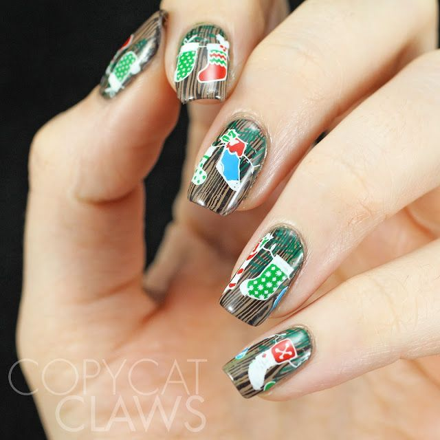 The Digit-al Dozen does Traditions Day 5 AND 40 Great Nail Art Ideas - Christmas