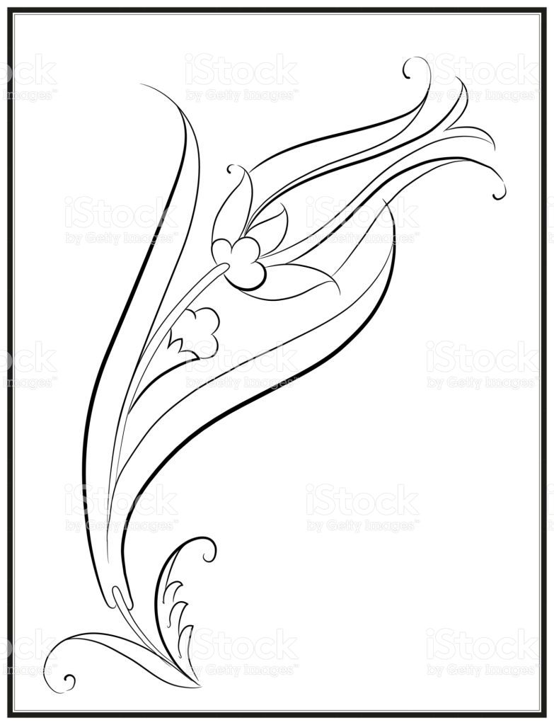 Vector Drawing Turkish Cultural Motif Ottoman Ceramic Tulip Pattern Cizim Egitimleri Sanat Zentangle Desenler
