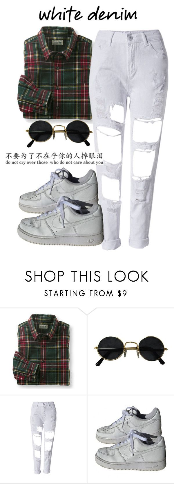 """Sem título #710"" by joananazar on Polyvore featuring moda, NIKE e whitejeans"