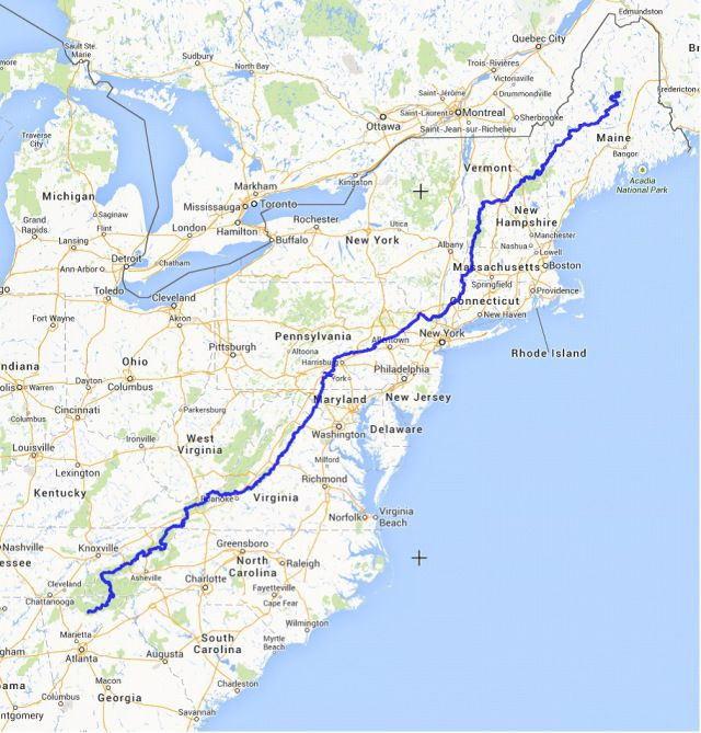 Interactive Appalachian Trail Map-- Provides waypoints, resupply ...