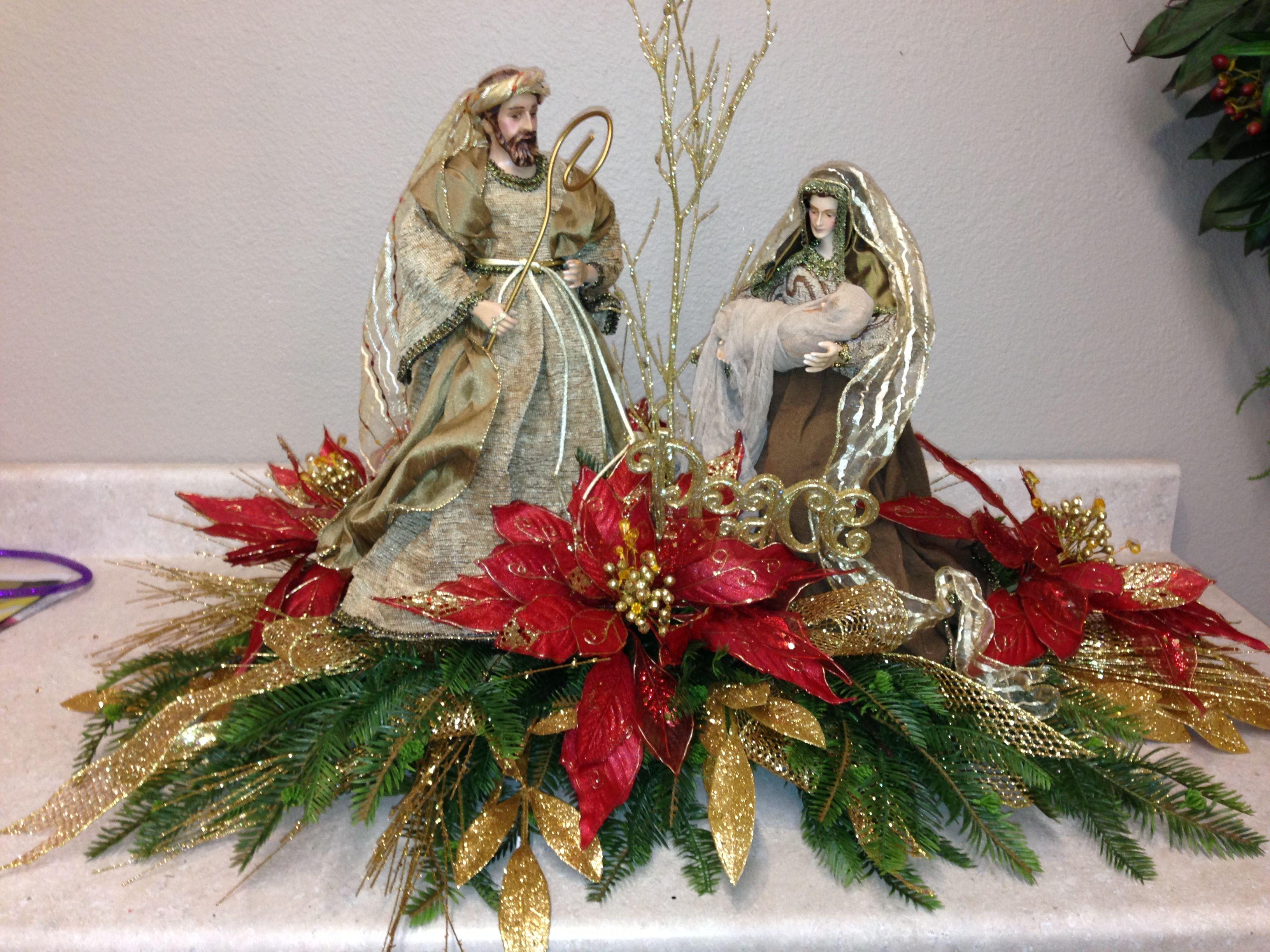 Hermoso pesebre navidad pinterest pesebre navidad y - Arreglos navidenos para mesa ...