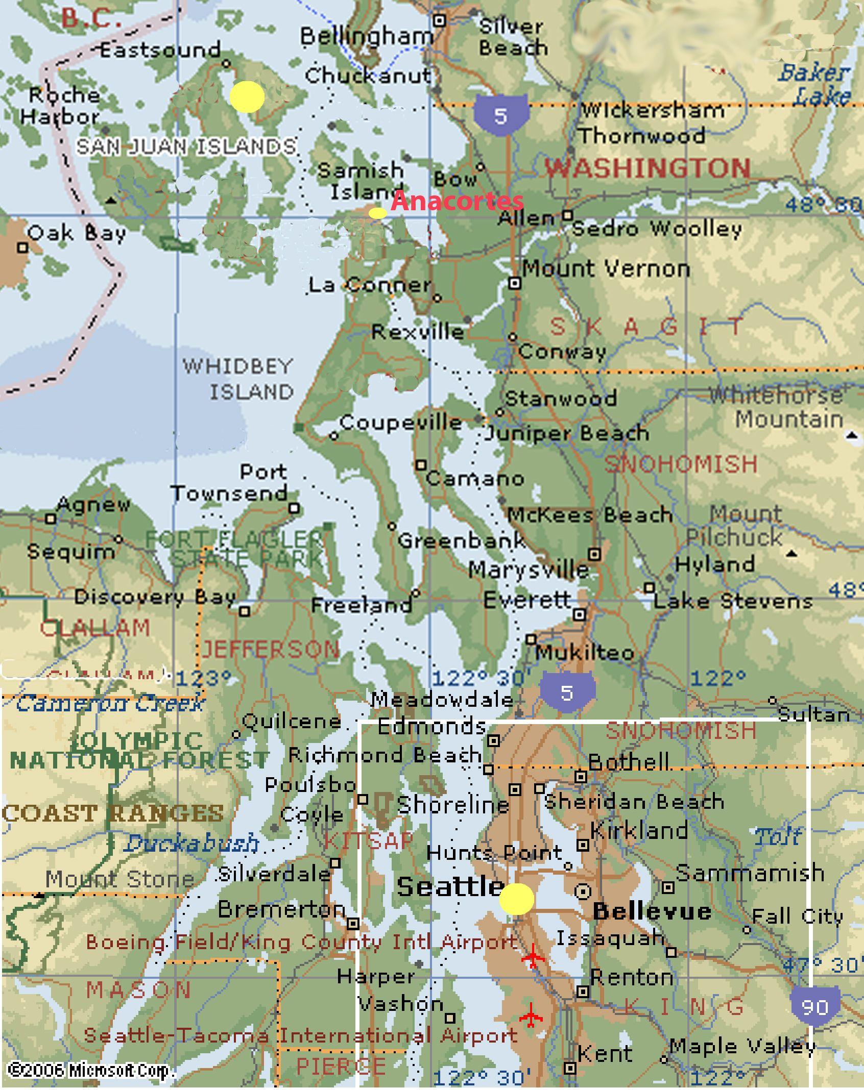 WASHINGTON COAST | Washington State - West Coast Map See map details ...