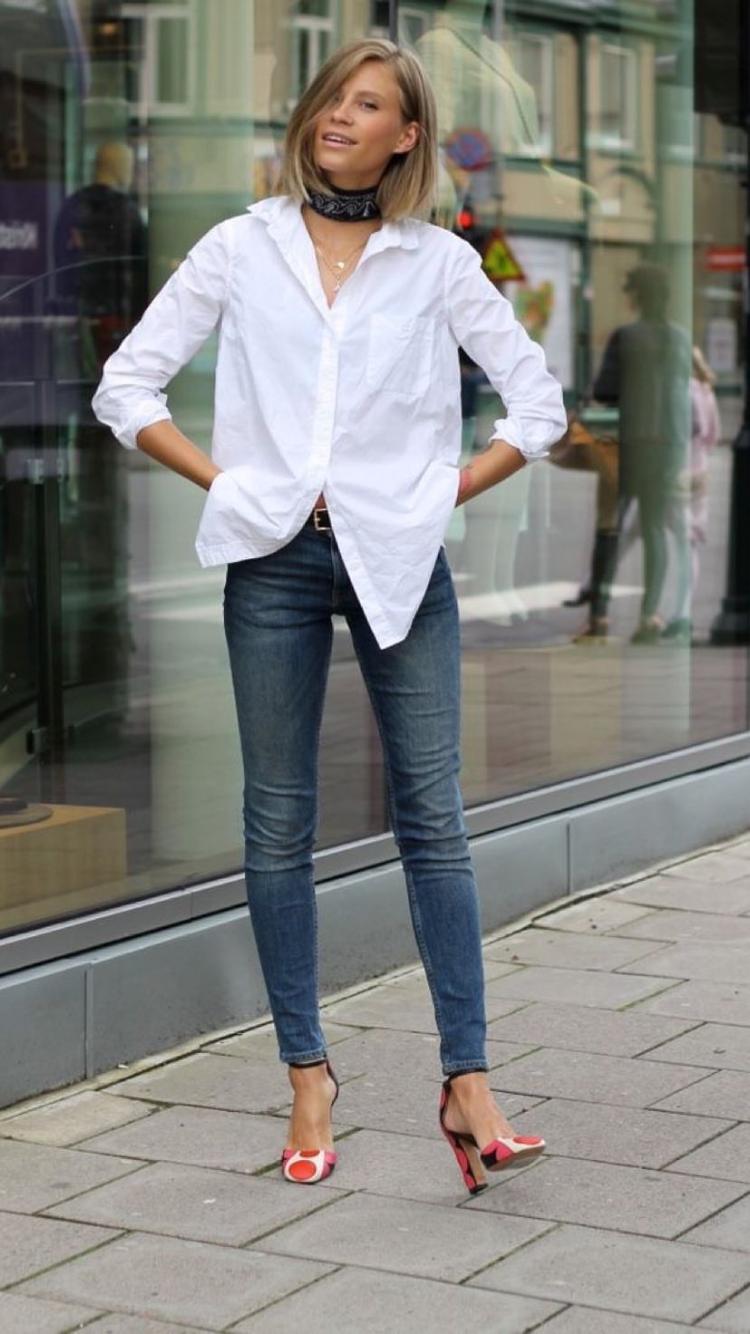 белая рубашка и джинсы картинки фотографии