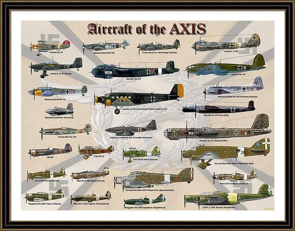Aircraft Of The Axis Framed Print By Michael Colclough | Fine Art ...