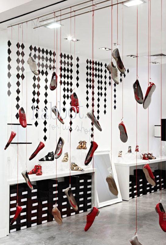 Aparador Style ~ Zapatos Colgando PARA LA TIENDA Pinterest Zapatos, Escaparate y Vidrieras