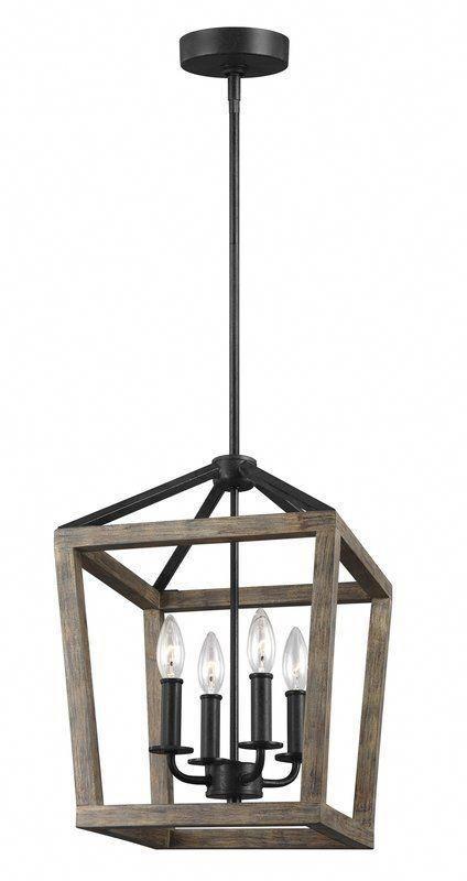 4 - Light Lantern Geometric Chandelier