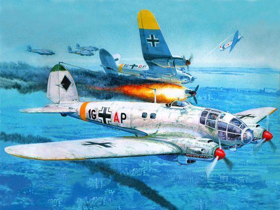 Рисованая боевая авиация (141 работ)   Воздушное судно ...