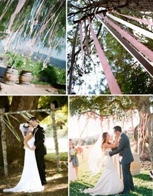 Arch Ribbons Or Paper Streamers To Decorate Wedding Snippets