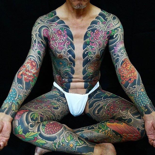 japanese bodysuit tattoo by horikashi japaneseink