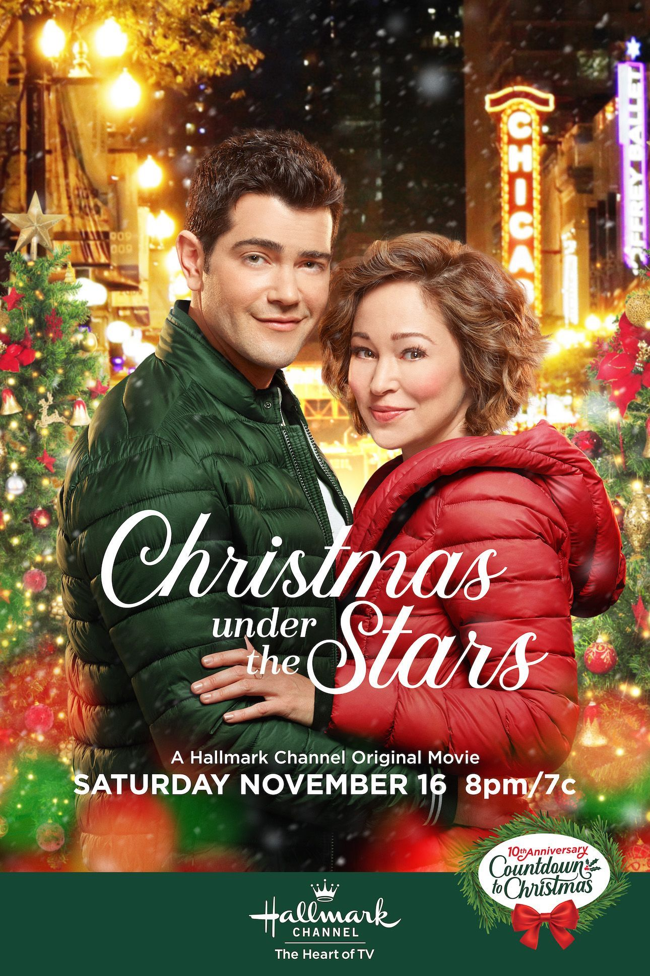 Christmas Under The Stars 2020 Countdown to Christmas reunites Autumn Reeser and Jesse Metcalfe