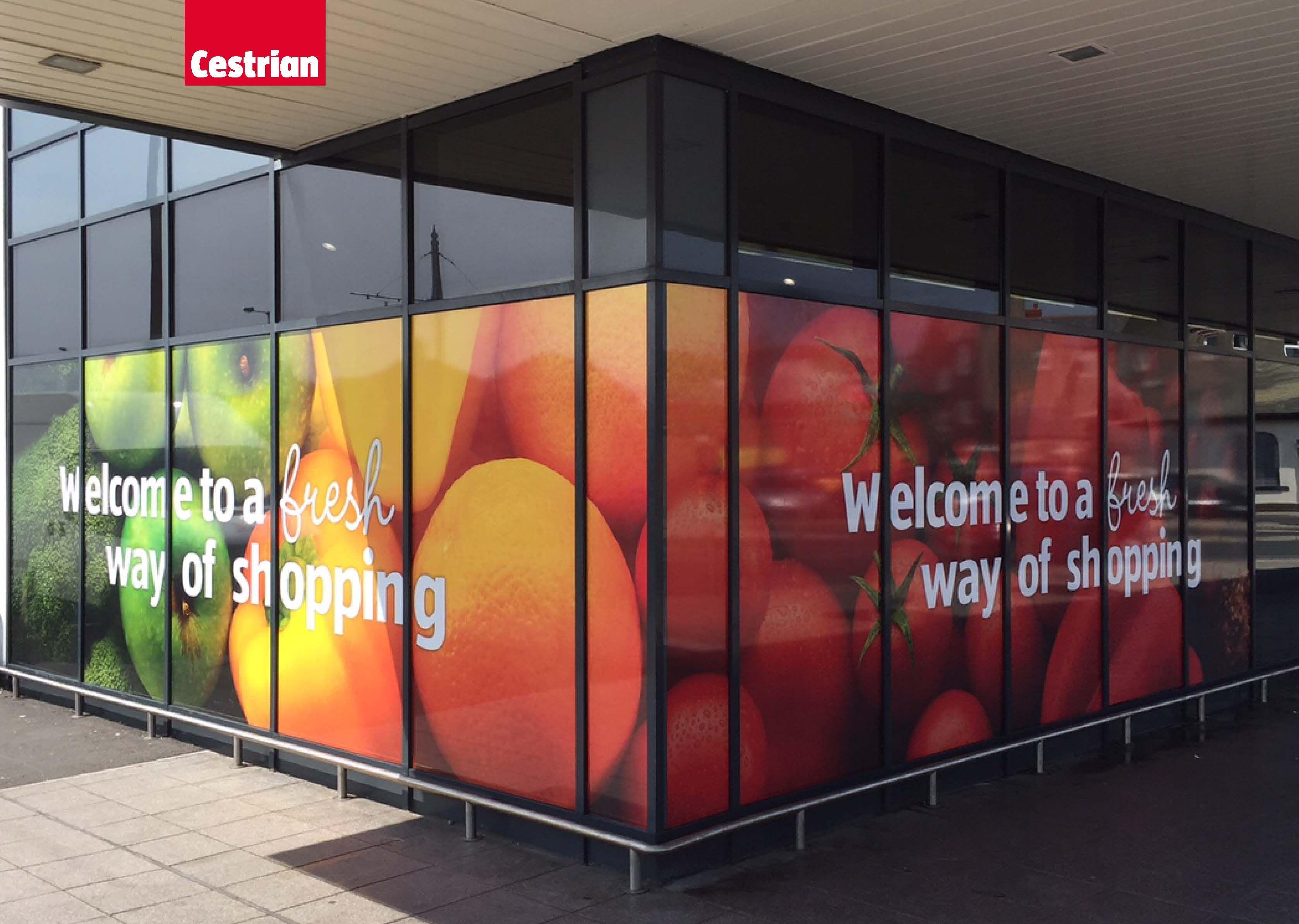 Cestrian Supply Aldi With Their Window Graphics Cestrianimaging Retailpos Windowgraphic Supermarket Design Grocery Store Design Window Graphics