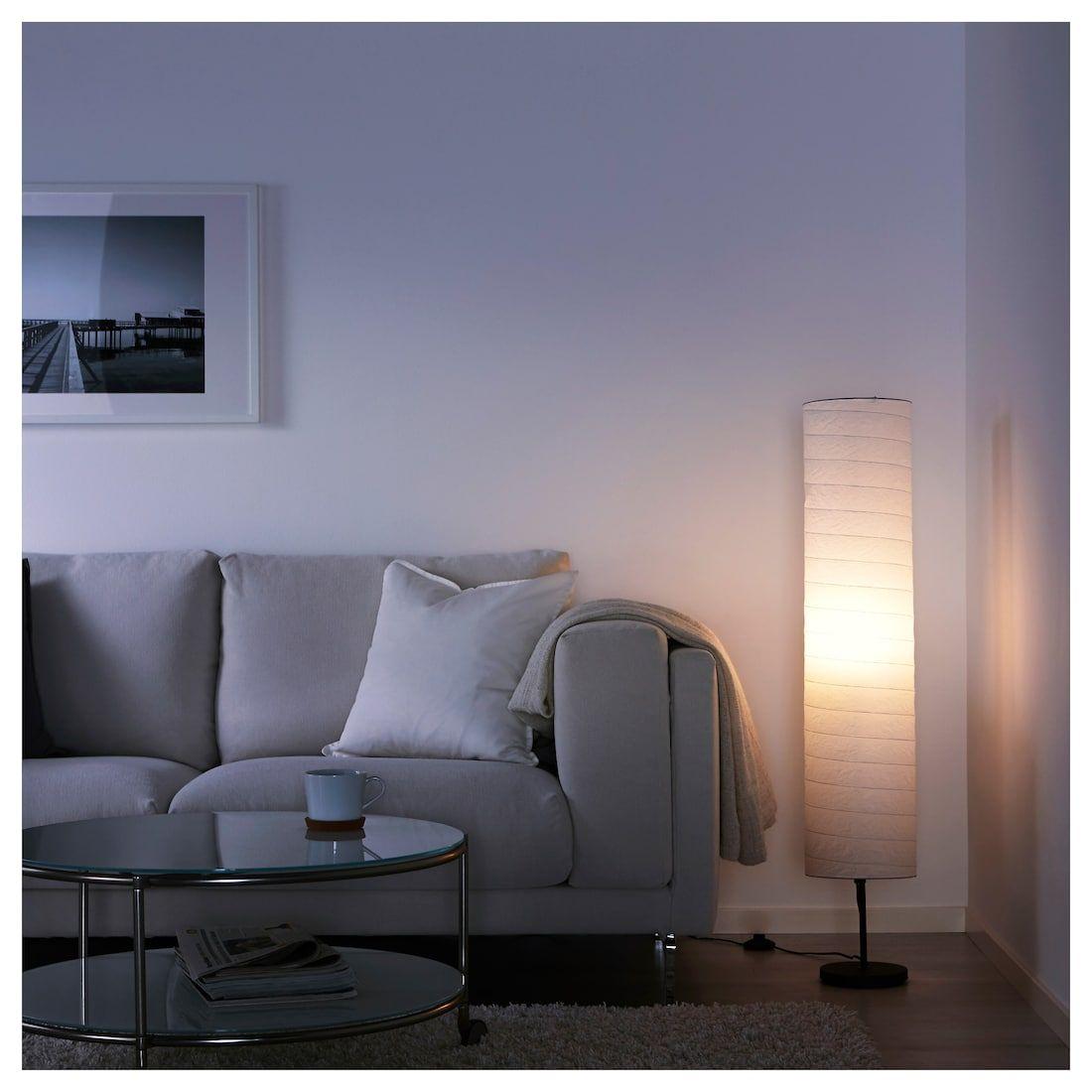 SOLLEFTEÅ oval white white, Floor lamp