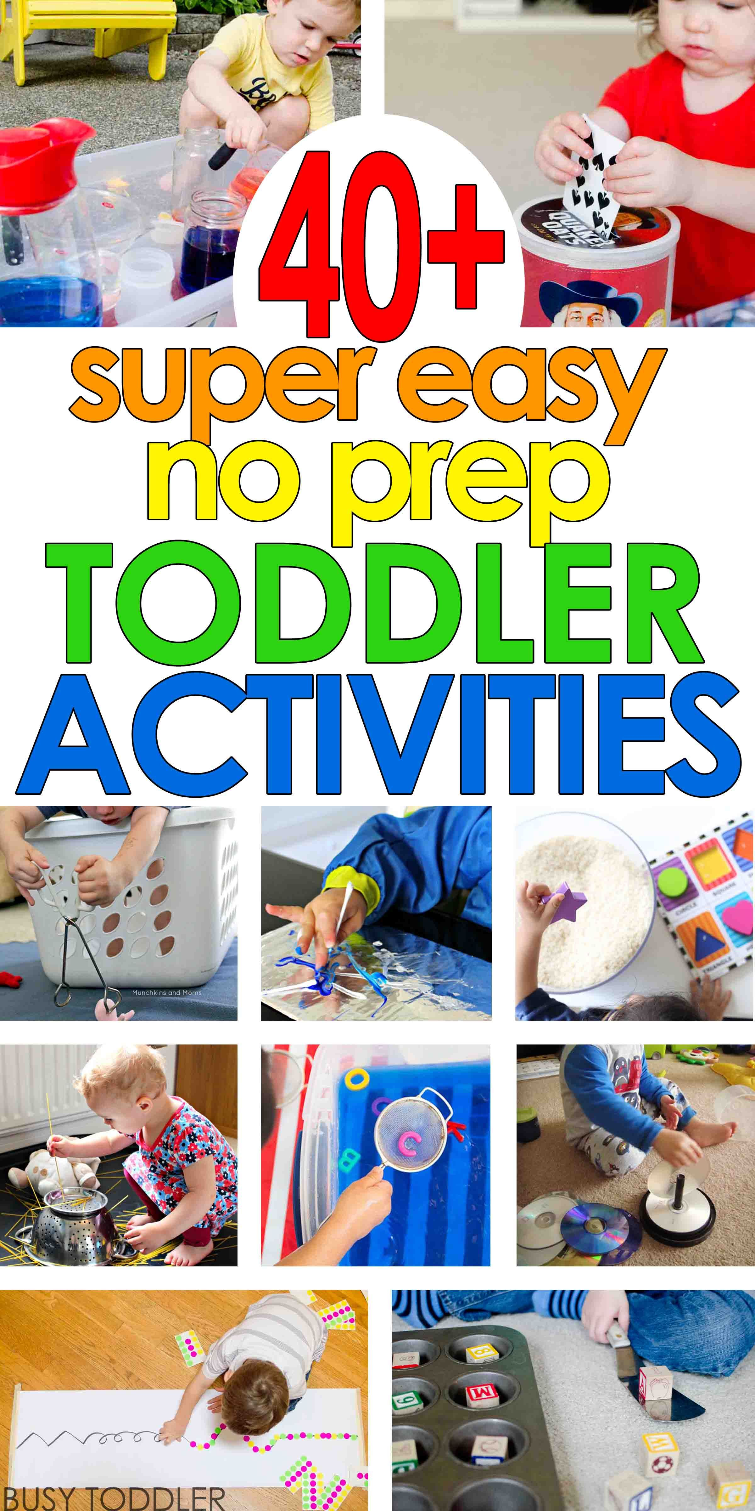 40 Super Easy Toddler Activities Special Education Toddler