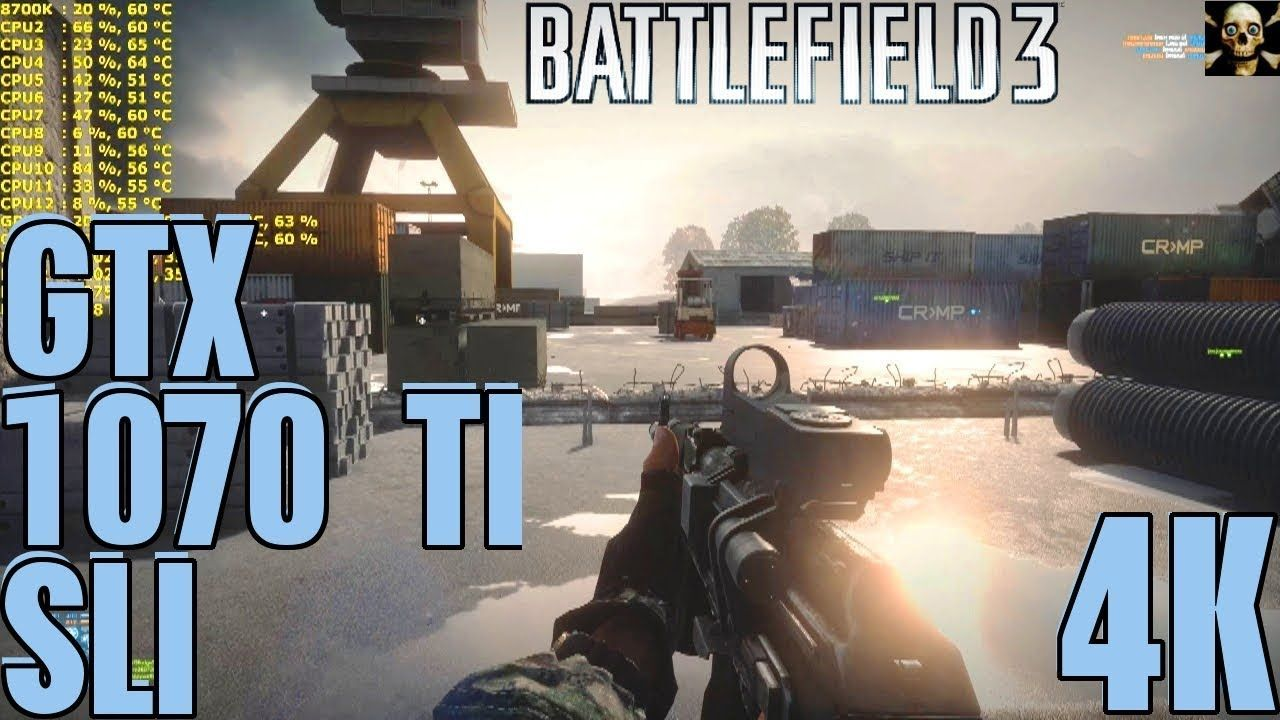 Gtx 1070 Ti Sli 180 Fps On Battlefield 3 Multiplayer Ultra Battlefield 3 Battlefield Fps