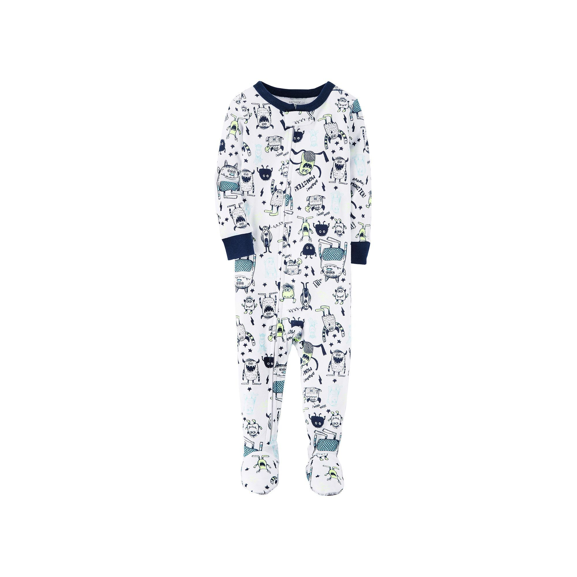 5df602b3a Baby Boy Carter s Monster Footed Pajamas
