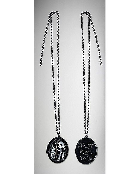 Nightmare Before Christmas Jack Sally Cabachon Necklace ...