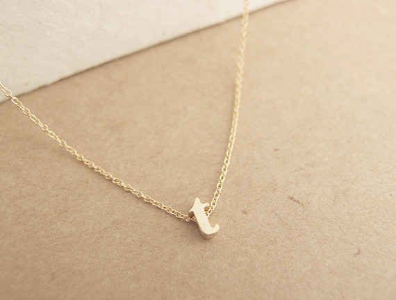 A delicate initial necklace. Personalized gifts