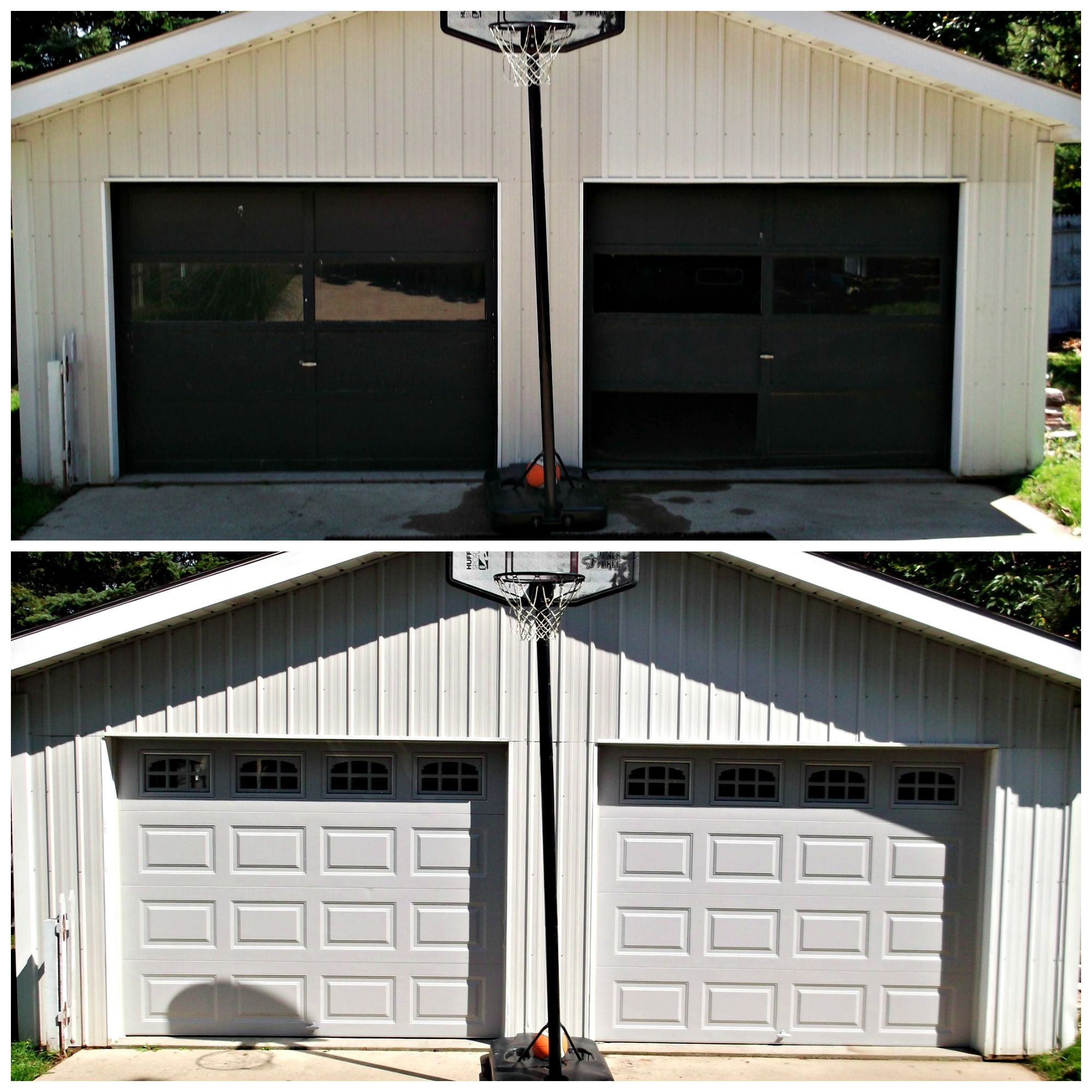 Clopay 4050 Garage Door In Grey Gielgaragedoors Clopay