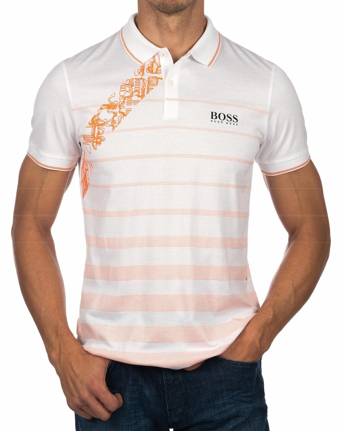 8c5b16d4a Hugo Boss Polo Shirt White & Orange - Paule Pro 2 in 2019 | Hugo ...