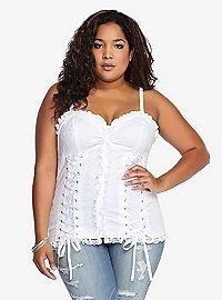 d5c4b5a7e6 TORRID.COM - Tripp Ribbon Corset Tank Top  slimmingbodyshapers Wonderful  supporting plus size underwear to look beautiful come see..  slimmingbodyshapers.com