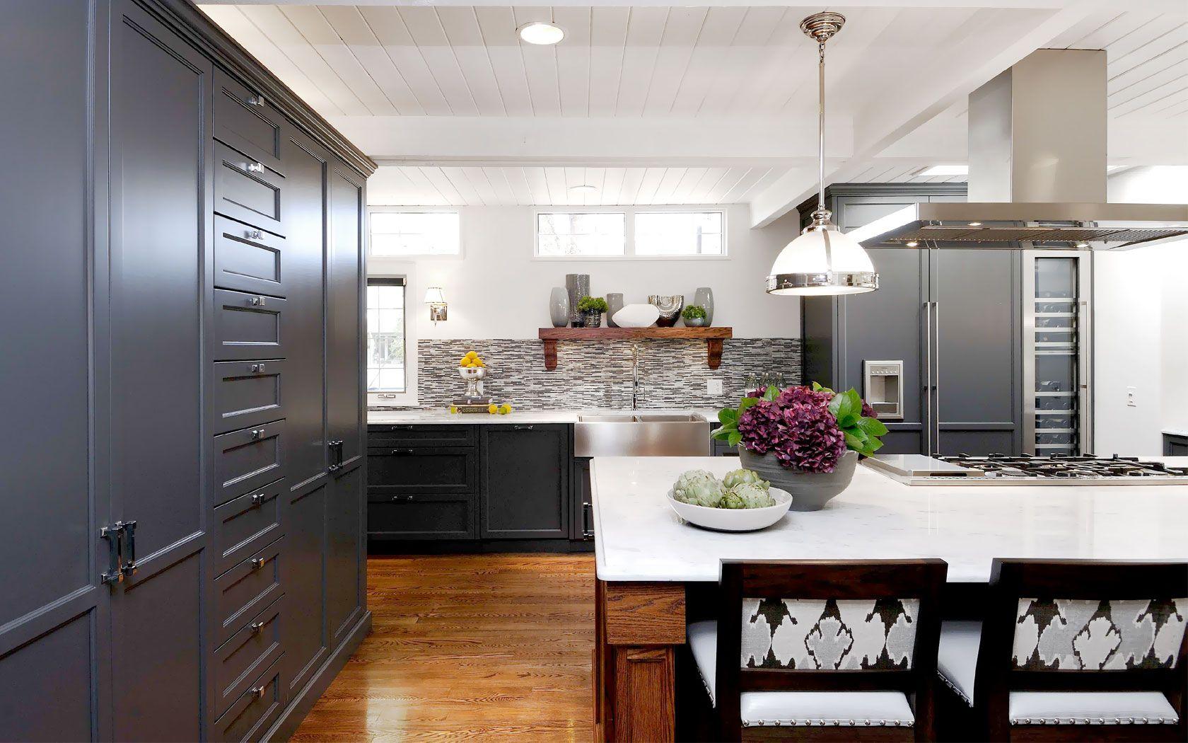 Atmosphere Interior Design  Saskatoon  Dream Homekitchen And Best Kitchens With Grey Cabinets Decorating Inspiration