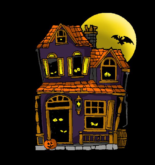 Halloween Haunted House Clip Art Yahoo Search Results Casas Encantadas Halloween Png