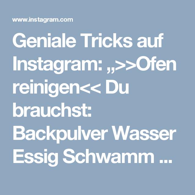 Backofen Reinigen Mit Essig Backpulver - Ostseesuche.Com