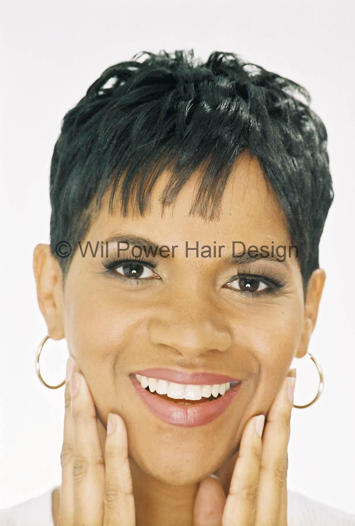 Relaxed hairstyles and black women picture of an attractive black