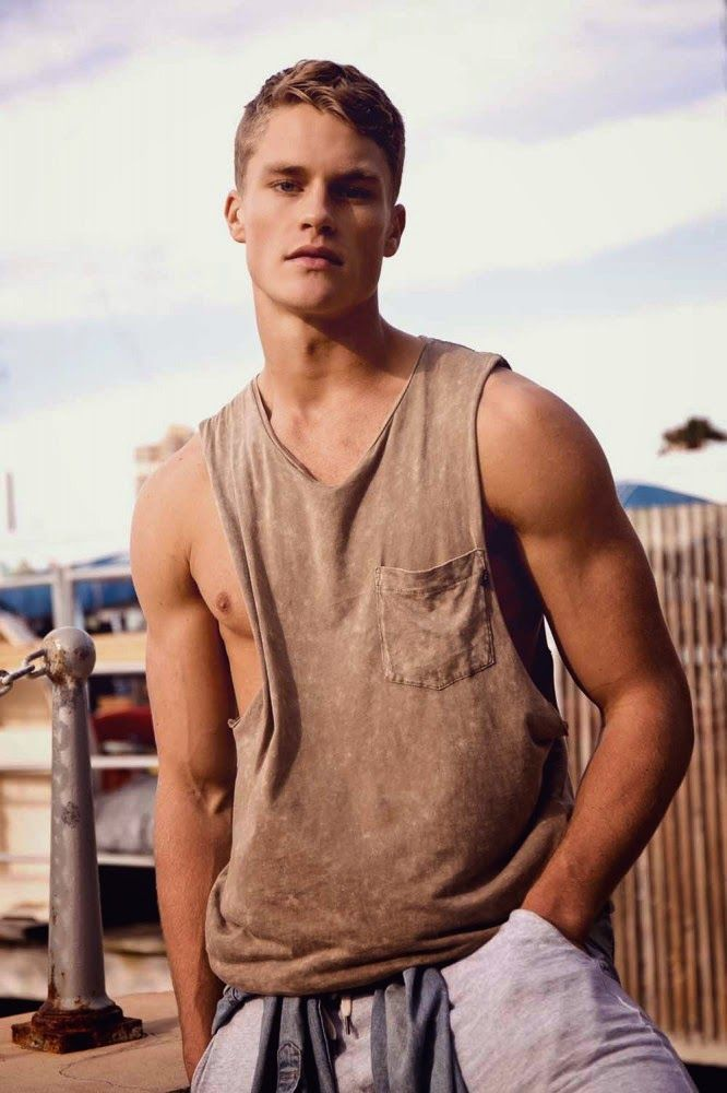 Toby in his wife beater....